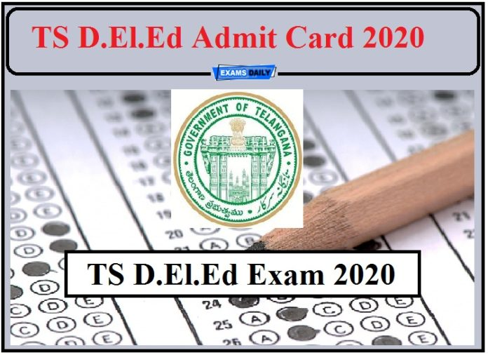 TS D.El.Ed Admit Card 2020 Released- Download 1st and 2nd Year Hall Ticket!!!