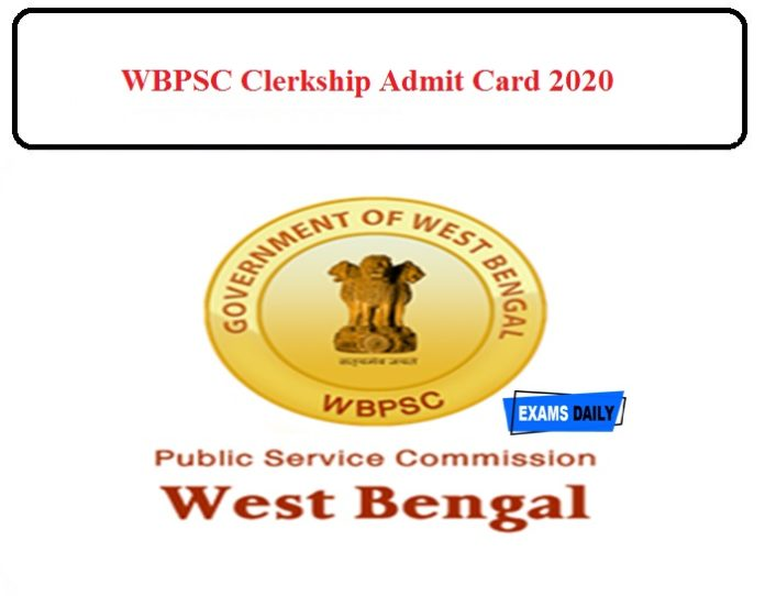 WBPSC Clerkship Admit Card 2020 Released