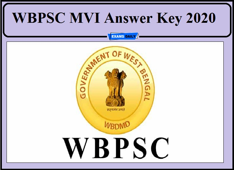 WBPSC MVI Result 2020- Download Answer Key Now Direct Link Available!!!
