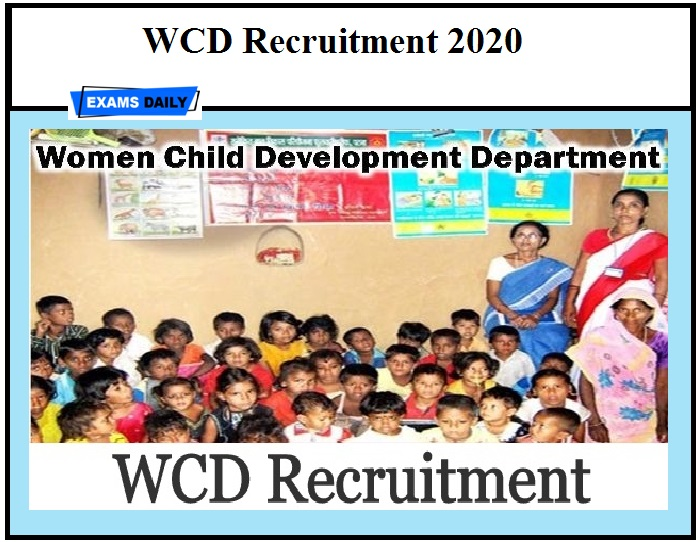 WCD Delhi Recruitment 2020 OUT – Download Notification Apply Online Here