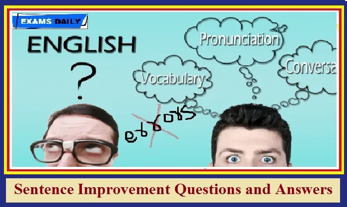 sentence improvement question and answers
