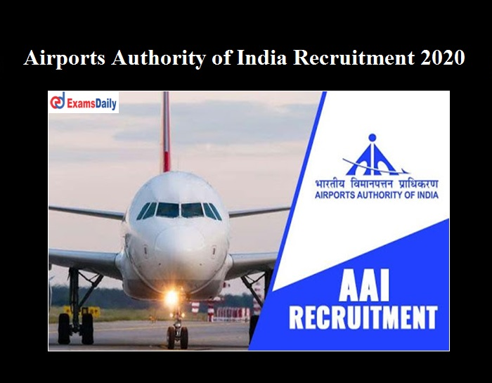 AAI Consultant Recruitment 2020 OUT