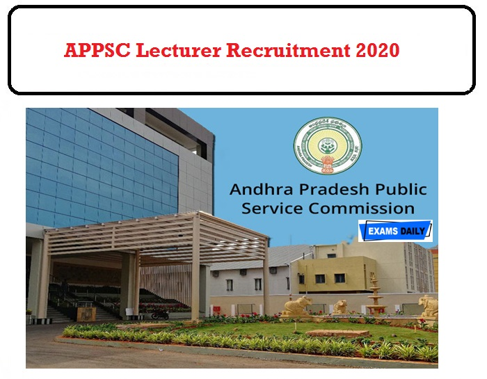 APPSC Lecturer Recruitment 2020 OUT