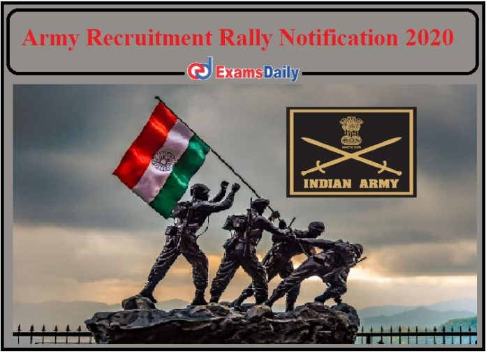Army Recruitment Notification 2020- Check Kannur Rally Details!!!