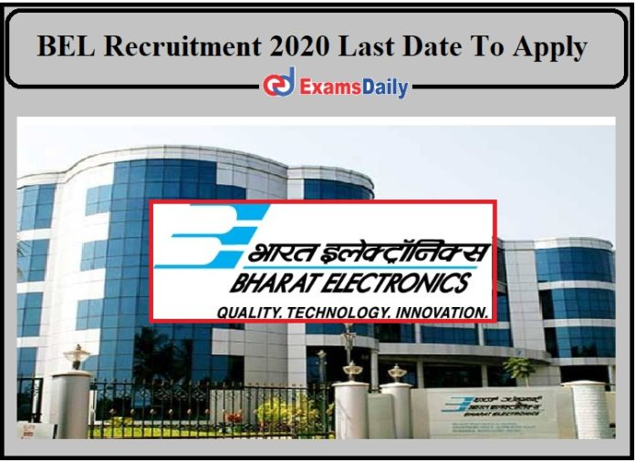 BEL Recruitment 2020 Last Date To Apply- Check Details for Trainee Official Language!!!
