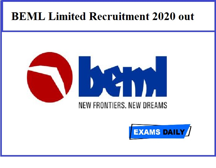 BEML Limited Recruitment 2020 out