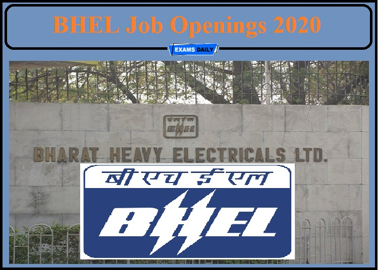 BHEL Job Openings 2020 Released- Apply for Young Professionals Post!!!
