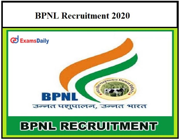 BPNL Recruitment 2020 – Registration Ends Soon for 3764 Vacancies Apply Here!!!