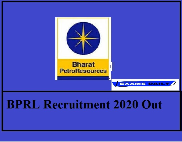 BPRL Recruitment 2020 Out