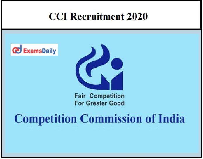 CCI Recruitment 2020 OUT – Download Application Form Here Salary Up to Rs.216600!!!