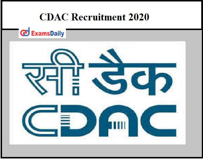 CDAC Recruitment 2020 OUT - Project Engineer & Other Vacancies Apply Online!!! (1)