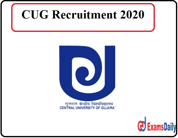 CUG Recruitment 2020 Out - Download Notification Pdf!!