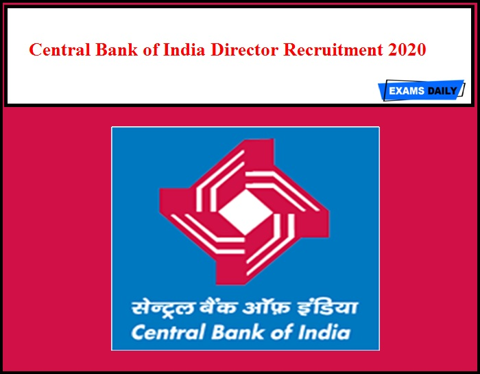 Central Bank of India Director Recruitment 2020