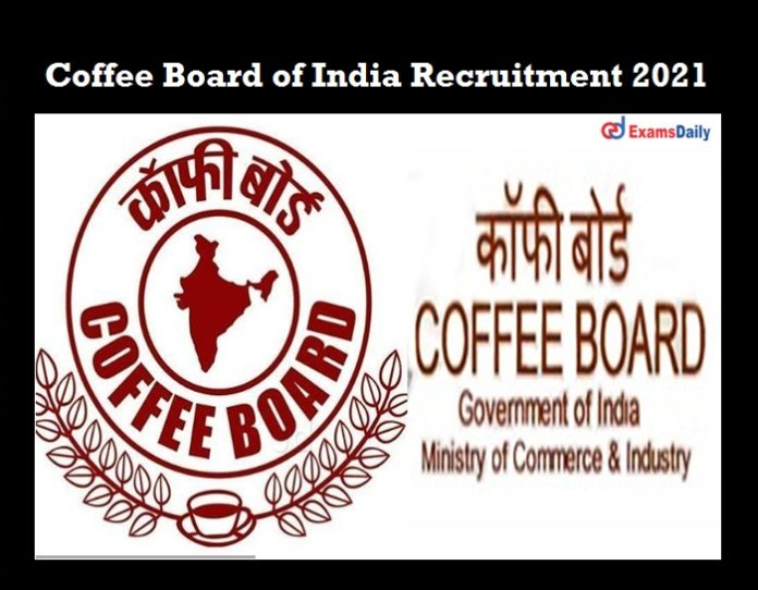 Coffee Board of India Recruitment 2021 OUT