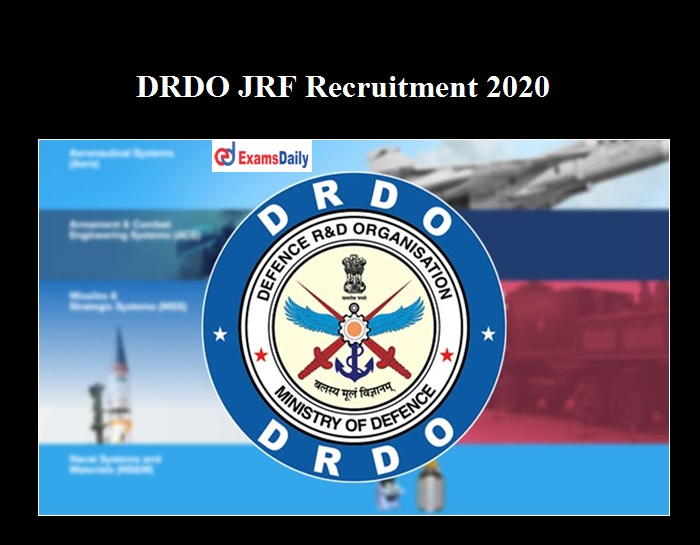 DRDO Important Dates 2020 OUT