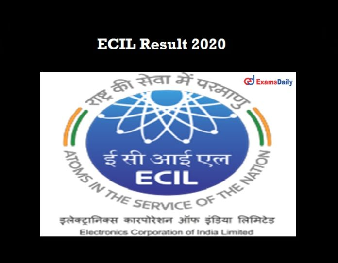 ECIL Result 2020 OUT