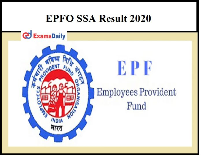 EPFO SSA Result 2020 – Check Social Security Assistant Phase 3 Selection List Details Here!!!