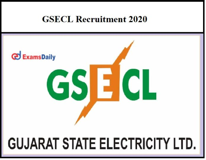 GSECL Recruitment 2020 OUT – 70+ Lab Tester & Other Vacancies Diploma B.Sc Graduates can Apply!!!