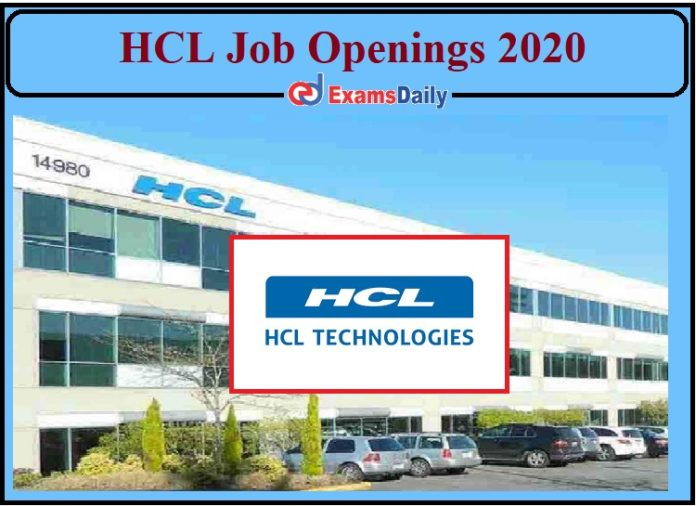 HCL Job Openings 2020 Out- Apply for Analyst and Technical Lead Post!!!