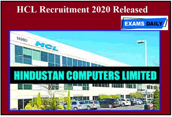 HCL Recruitment 2020 Released – Apply For Associate Vacancies @ hcltech apply here