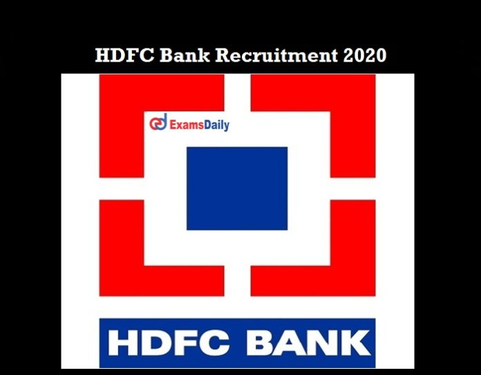 HDFC Bank Careers 2020 OUT