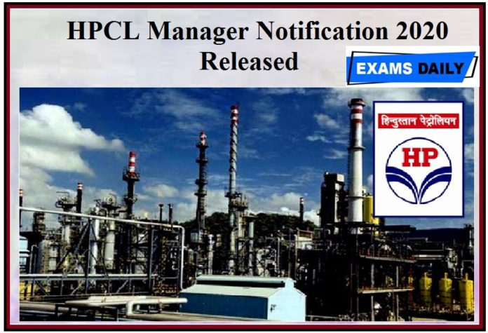HPCL Manager Notification 2020 Released - Check Short listing Methodology