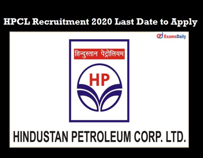 HPCL Manager Notification 2020 last date