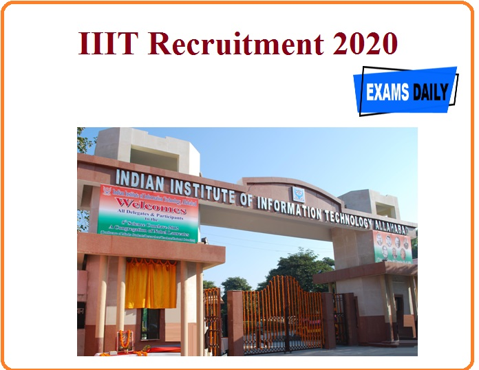 IIIT Recruitment 2020 Out – Project Staff Vacancy!!