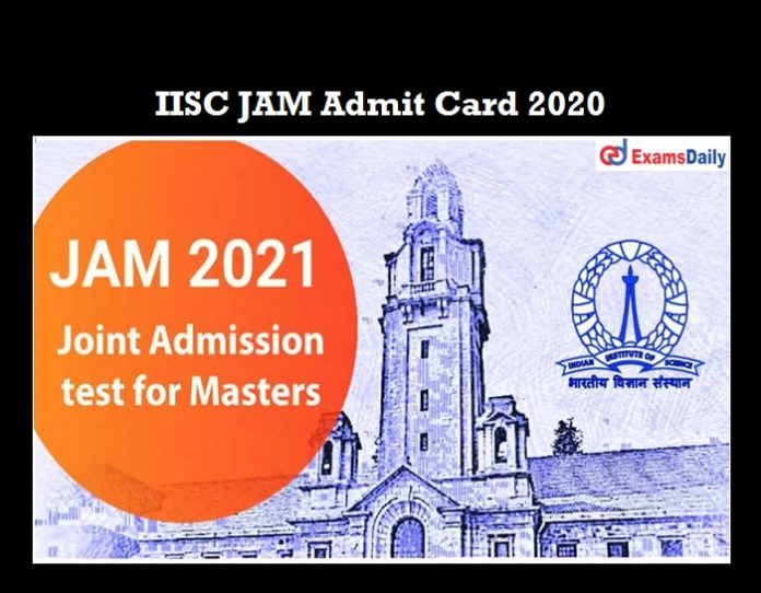 IISC JAM Admit Card 2021 OUT (1)