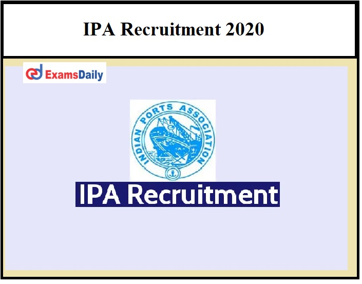 IPA Recruitment 2020 OUT – Salary Rs.65000 to Rs.90000 Download Notification PDF!!!