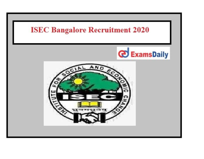 ISEC Bangalore Recruitment 2020 (1)