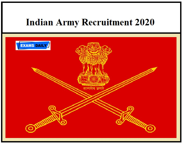 Indian Army Recruitment 2020 OUT – 8th 10th Pass can apply Download Rally Notification PDF!!!