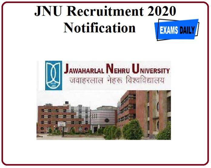 JNU Recruitment 2020 Notification Out!! Check Eligibility