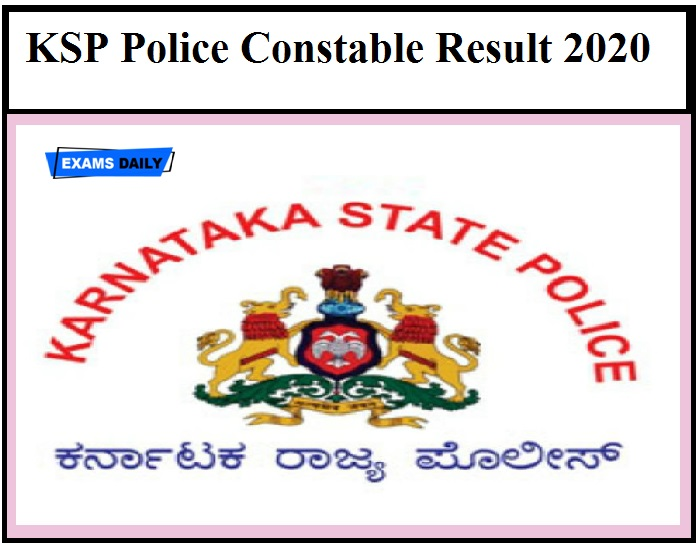 KSP Armed Police Constable Result 2020 – Download Final Answer Key for Civil Police Constable Here!!!