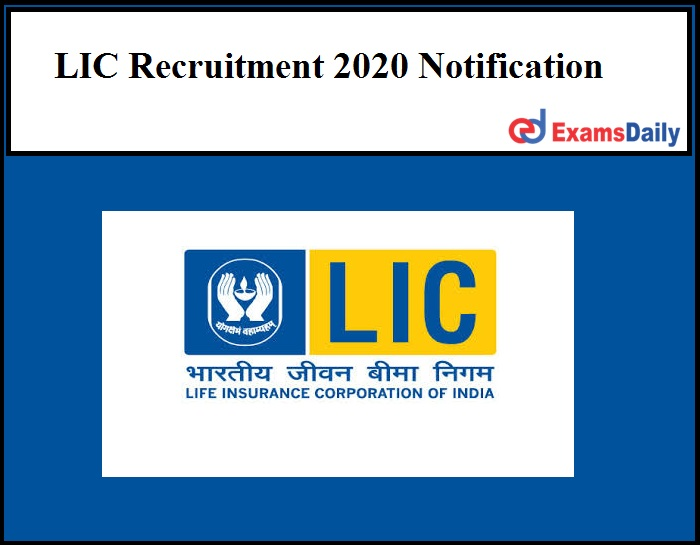 Lic Recruitment 2020 Notification Released For 800 Vacancies