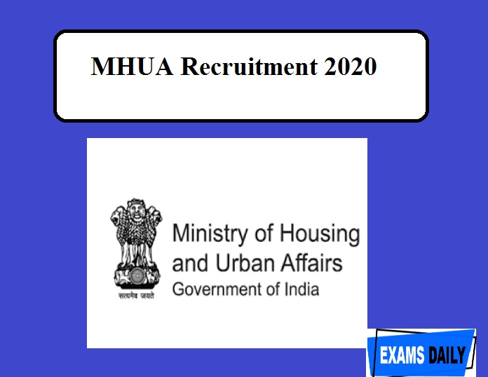 MHUA Recruitment 2020 Out