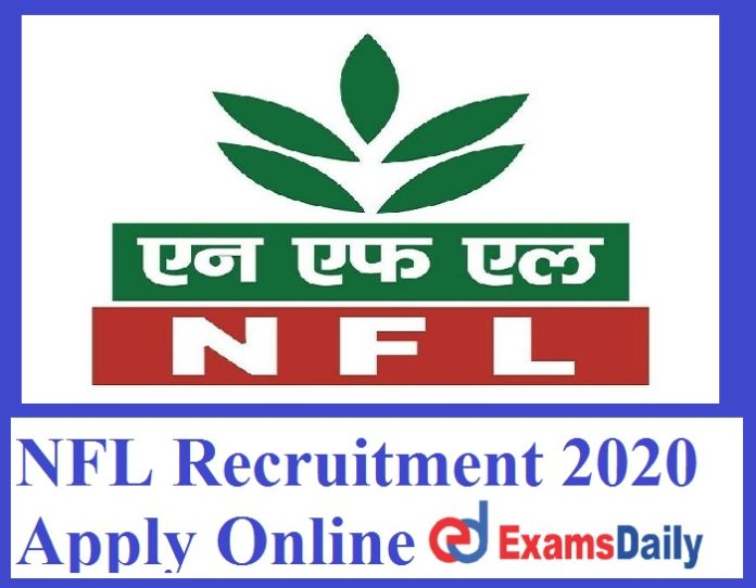 NFL Recruitment 2020 Apply Online – Salary Rs. 23,000 to 56,500 PM Notification for 40+ Vacancies!!!
