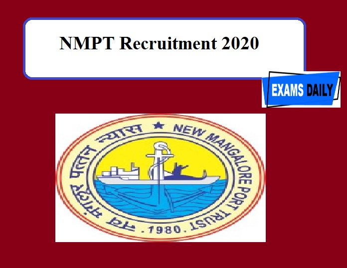 NMPT Recruitment 2020 Out