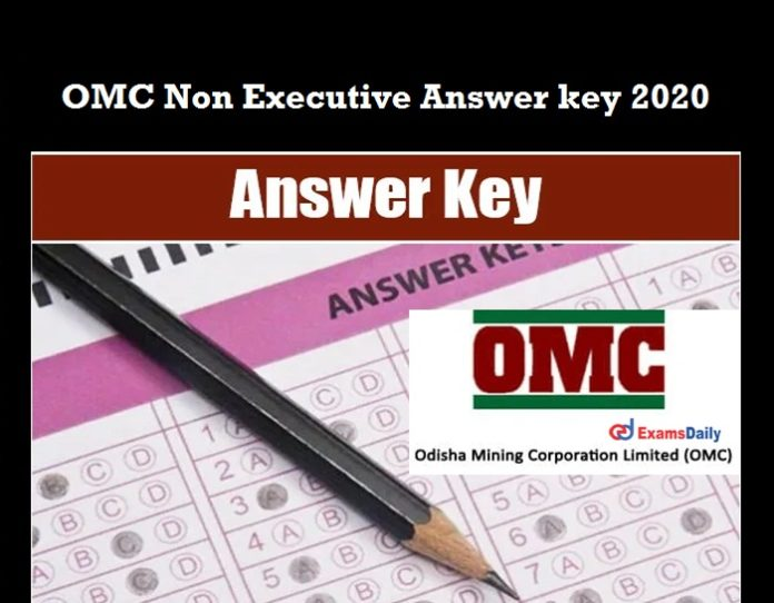 OMC Non Executive Answer key 2020 OUT
