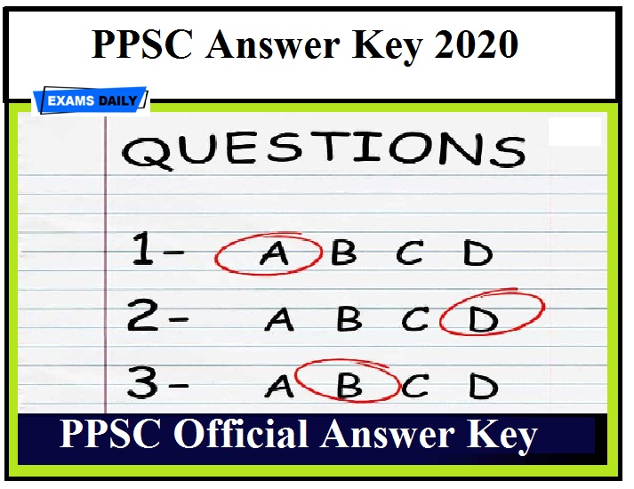 PPSC Headmaster Answer Key 2020 OUT –Check Objection Details for Principal & BPEO Posts (1)