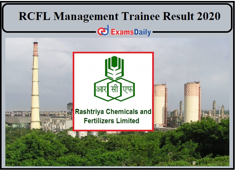 RCFL Management Trainee Result 2020 Released- Download Shortlist for Electrical Stream!!!