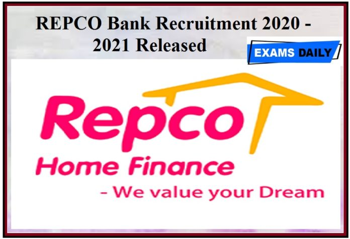 REPCO Bank Recruitment 2020 -2021 Released – Apply For Officer on Special Duty Vacancies Check Out Details Here!!!