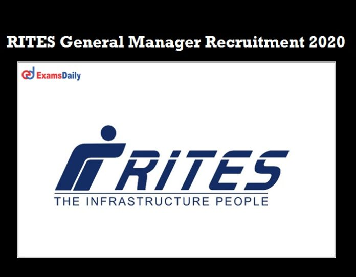 RITES General Manager Recruitment 2020 OUT (1)