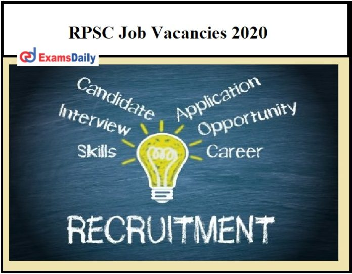 RPSC Job Vacancies 2020 – Tomorrow Last Date Don't Miss It!!!