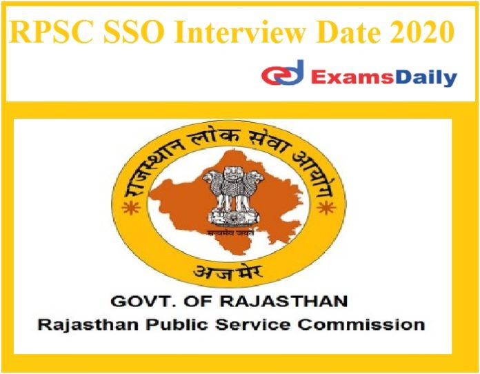 RPSC SSO Interview Date 2020 Out – Download Senior Scientific Officer Schedule Here!!!