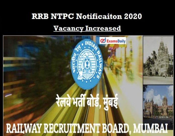 RRB NTPC Mumbai Notification 2020 OUT
