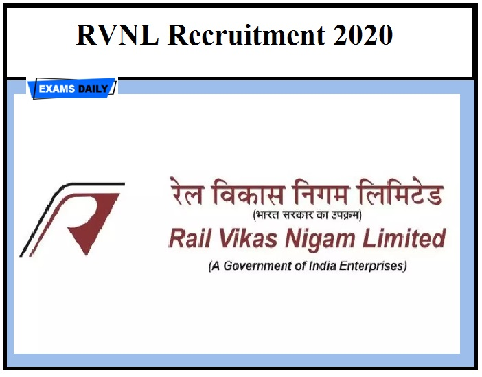 RVNL Recruitment 2020 OUT – Download Application Form