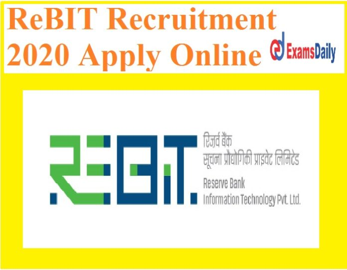 ReBIT Recruitment 2020 Apply Online - Bachelor's Degree can Apply!!!