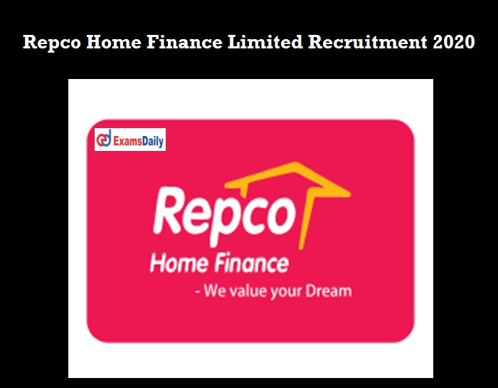 Repco Home Finance Recruitment 2020 OUT