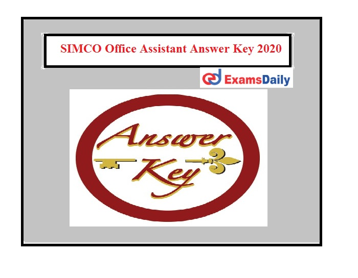 SIMCO Office Assistant Answer Key 2020